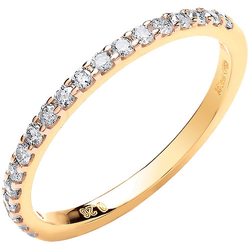 9ct Yellow Gold 0.26ct Diamond Eternity Ring