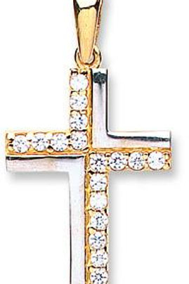9ct CZ Cross