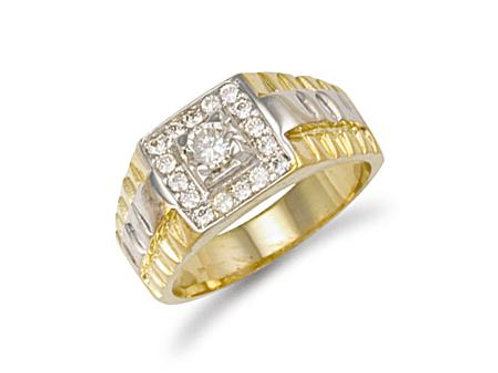 9ct CZ Mens Ring
