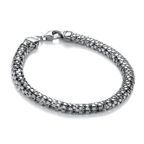 Sasha Ruthenium Plated Silver Bracelet
