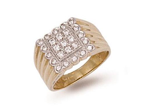 9ct CZ Mens Ring