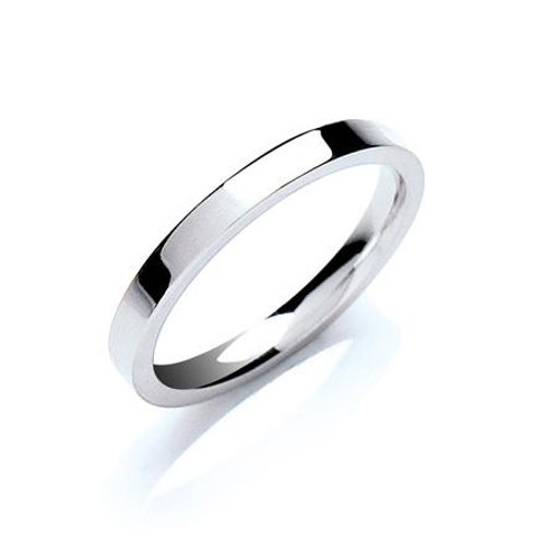 2mm Flat Court Wedding Band
