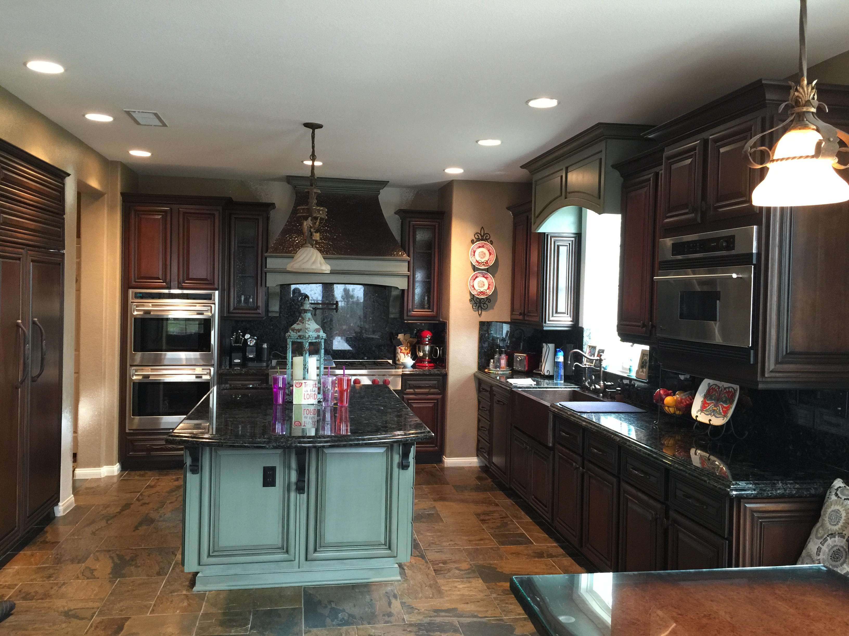 Resurfaced kitchen cabinets