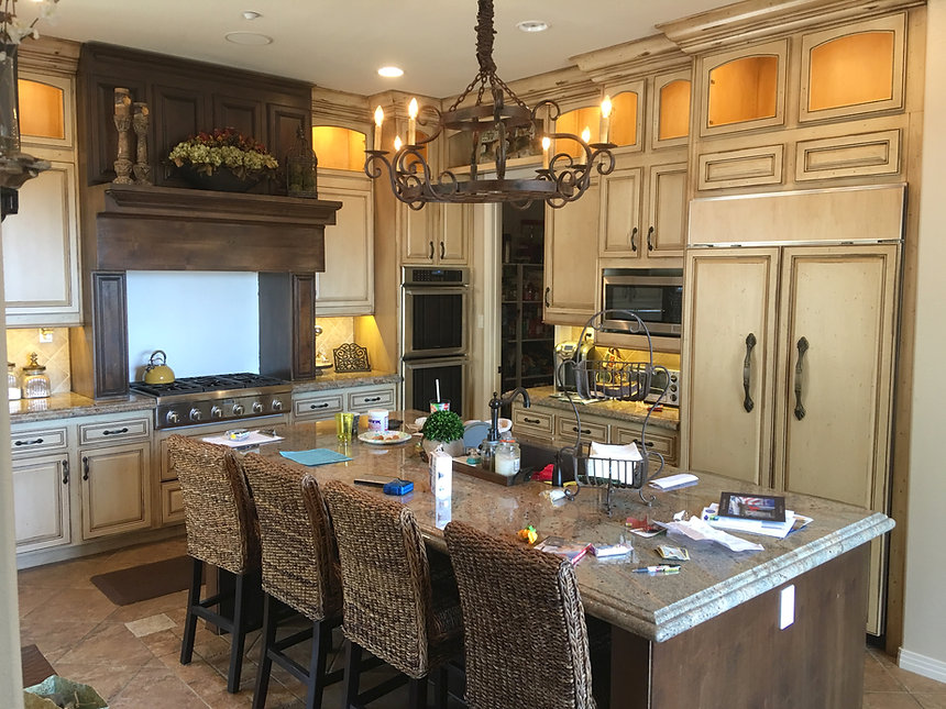 kitchen cabinet refacing french country style encinitas california