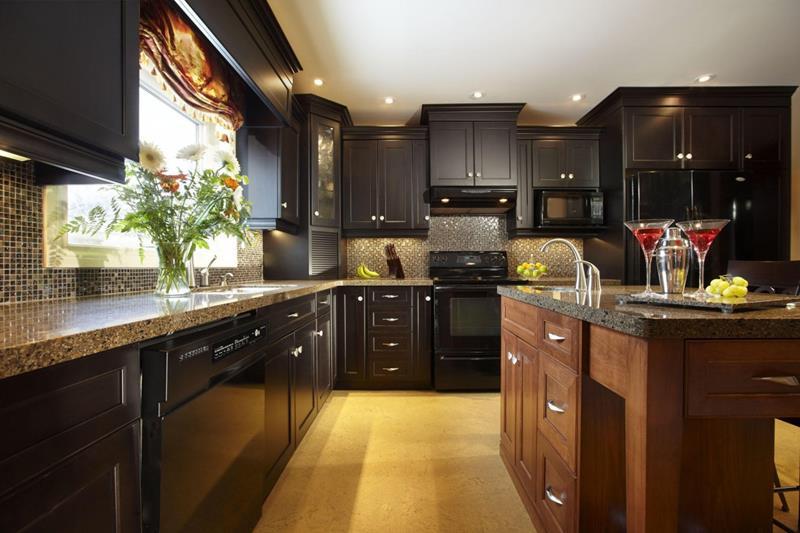 Contrasting Dark Kitchen Design