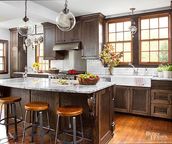 Dark Stained Oak Kitchen