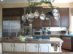 Newly resurfaced kitchen cabinets