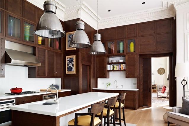 Natural Dark Brown Kitchen