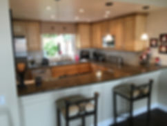 french country style glazed and antiqued cabinets encinitas california