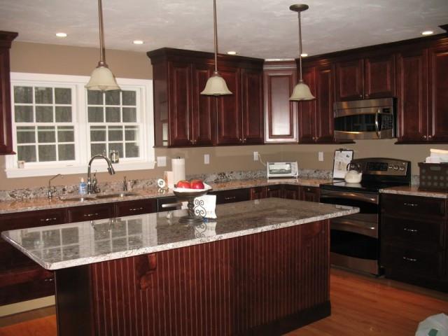 Warm Brown Kitchen Cabinets