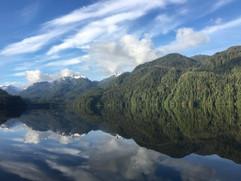 View from Khutzeymateen Wilderness Lodge.