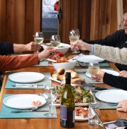Dinner at Khutzeymateen Wilderness Lodge.