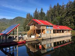Khutzeymateen Wilderness Lodge in the sun.