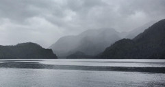 Moody mist (our favourite!) in Tsam Bay.