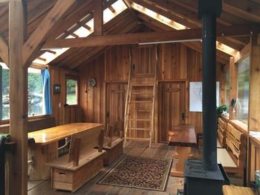 The main dining area of Khutzeymateen Wilderness Lodge.