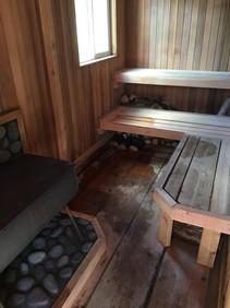 The sauna at Khutzeymateen Wilderness Lodge.
