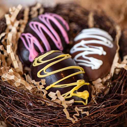 Buttercream-Filled Chocolate Easter Eggs