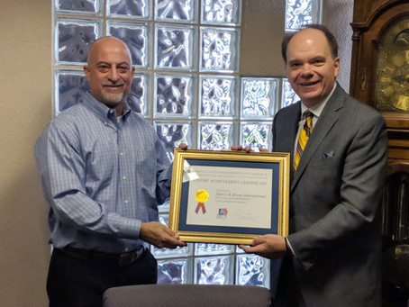 H&B Receives Export Achievement Award from United States Department of Commerce