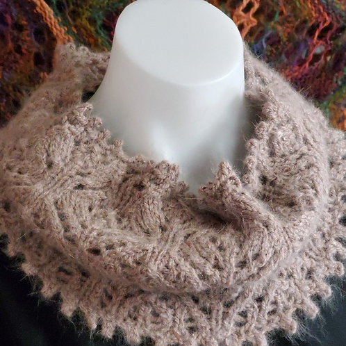 Chestnut Blooming Lace Cowl