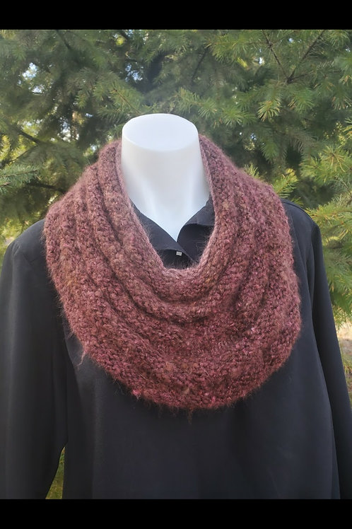 Burgandy Rippled Cowl