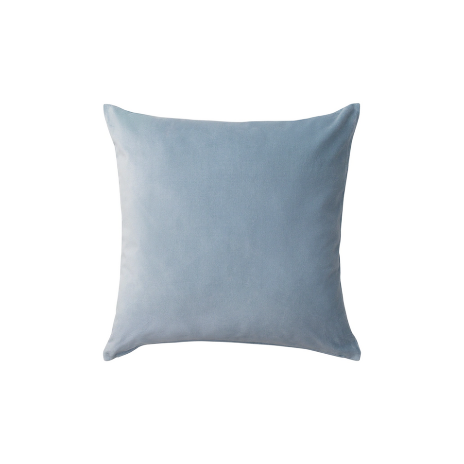 Dusty Blue Velvet Pillow