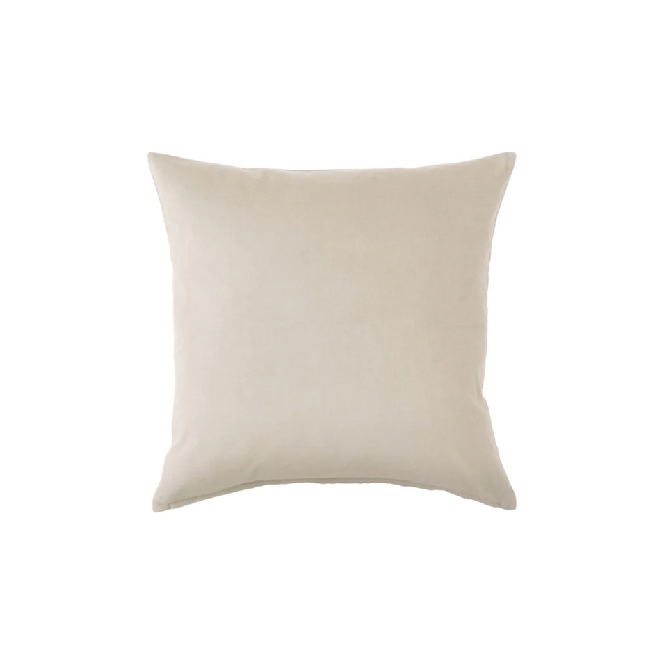 Cream velvet pillow