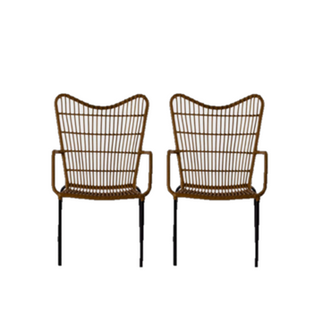 Wicker Sweetheart Chairs