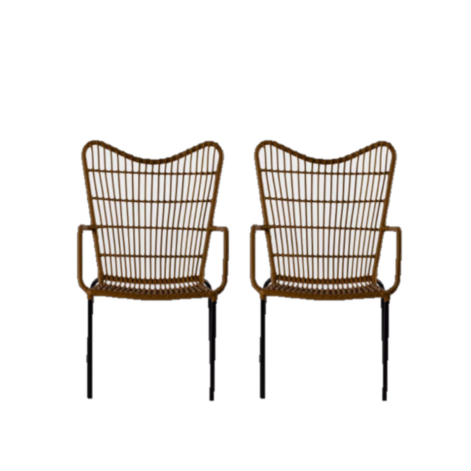 Wicker Sweetheart Chairs