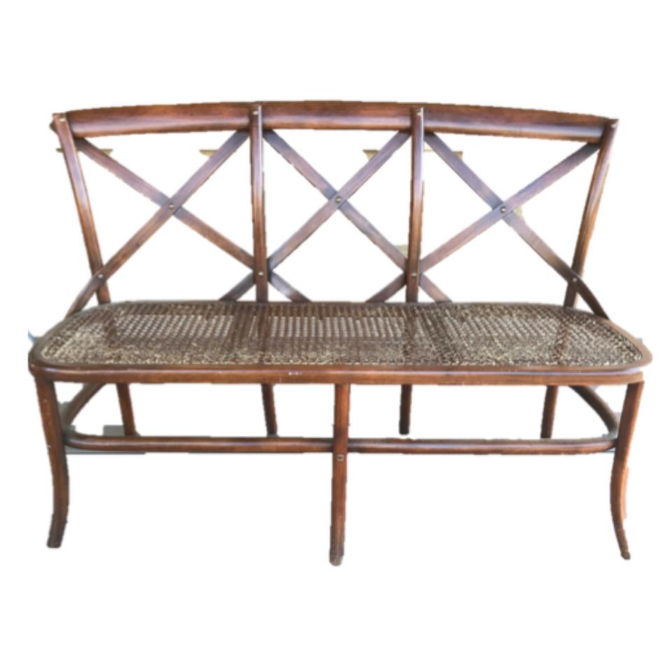 Antique Crossback Bench