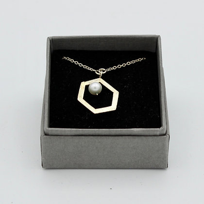 Collier Hexana perle d'eau douce
