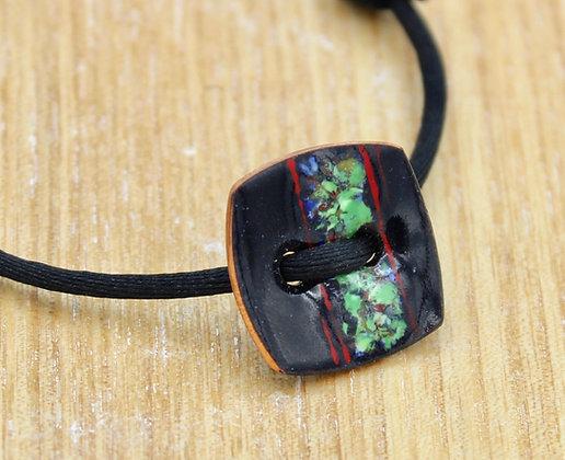Bracelet bouton carré