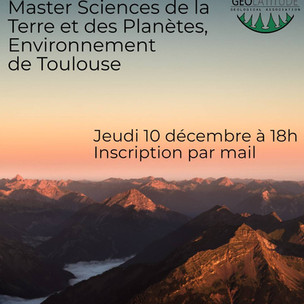 Découverte du Master STPE de Toulouse