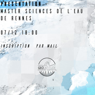 """Découverte du Master mention """"Sciences de l'eau"""" de Rennes"""