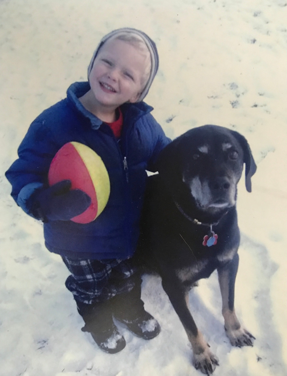 Cute Kid and the Best Dog Ever