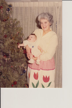 1976 Erin and Gammy photo color