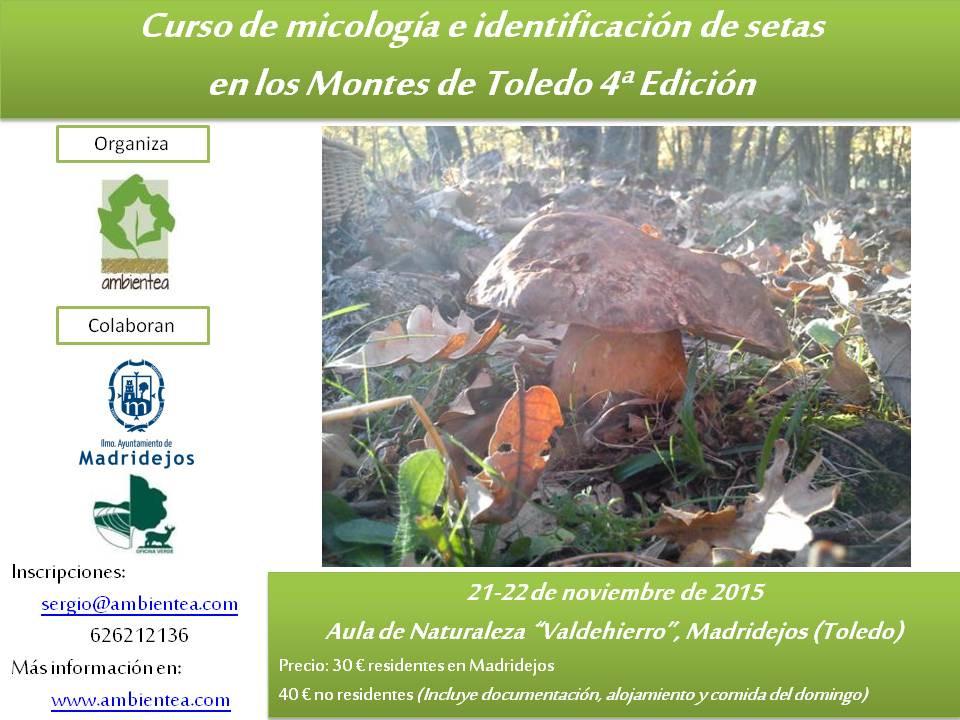Cartel informativo de uno de los cursos de micología organizados en 2015