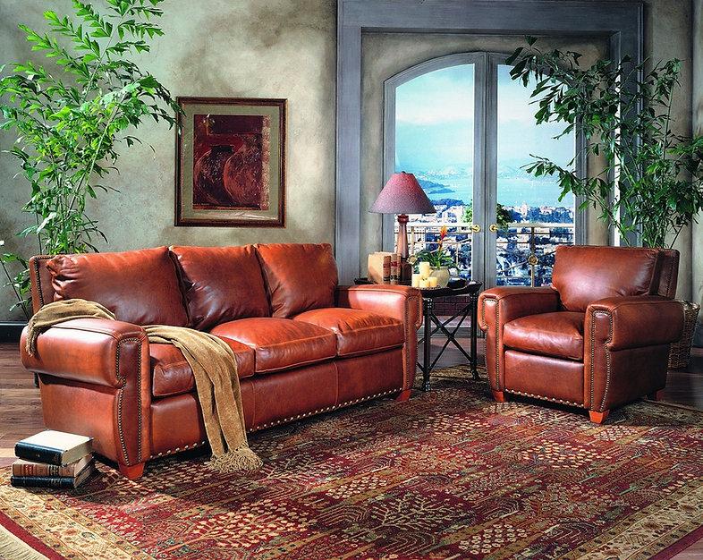 southwest leather sofa