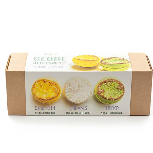 Motivate and Energize – Geode Bath Bomb Set