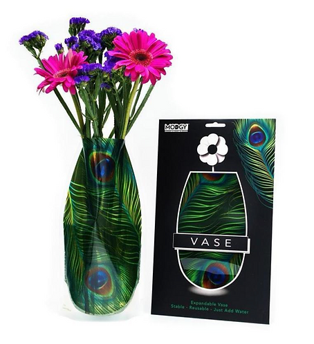 Peacock Vase Green