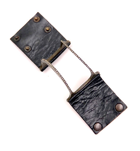 Leather & Bronze Cuff Bracelet