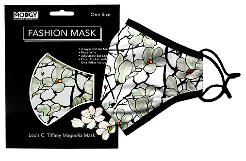 Louis C. Tiffany Magnolia Window Fashion Mask