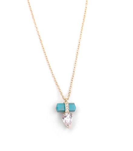 Turquoise Energy Point Necklace