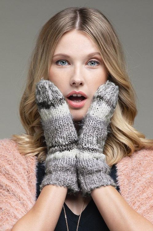 Stripe Knit Mittens