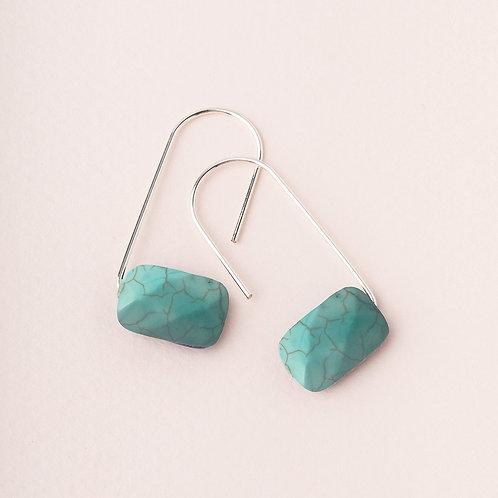 Turquoise Floating Stone Earring