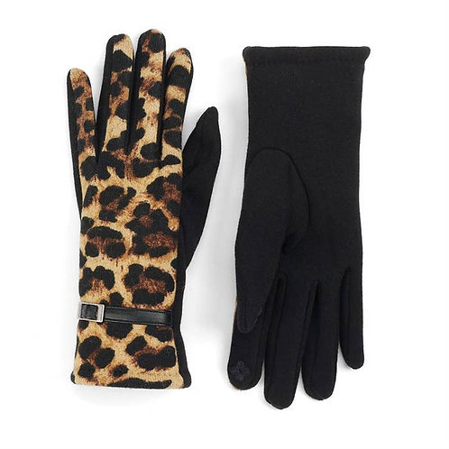 Leopard Print Fabric Gloves