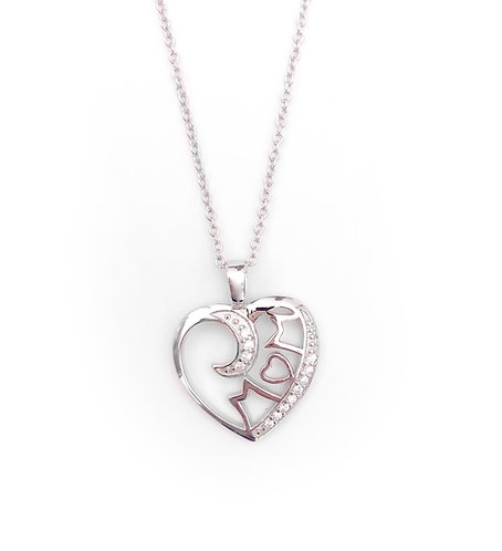 Love You To the Moon Mom Necklace