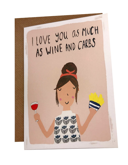 Wine and Carbs Card
