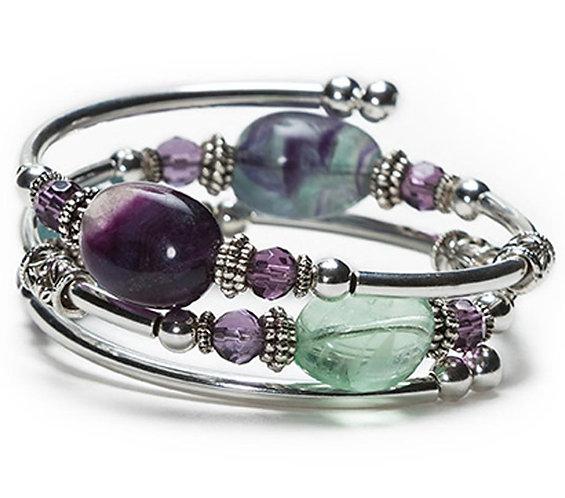 Fluorite Spiral Bracelet