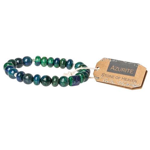 Azurite Stone Bracelet - Stone of Heaven