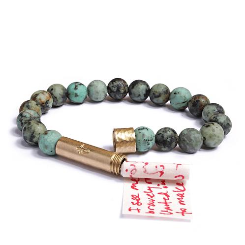 African Turquoise Wish Bracelet
